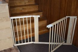 Barierka drewniana bramka na schody ,kominek 182cm nowa+ podstawki
