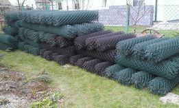 Siatka ogrodzeniowa powlekaba 1,5m zielony grafit czarny