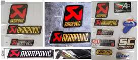 Akrapovic aluminium exhaust muffler silencer badge emblem decal