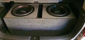 """2 Targa streets + 12"""" subs and camtec amplifier for sale"""