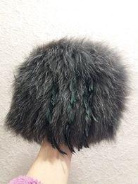 Вязаная шапка из меха