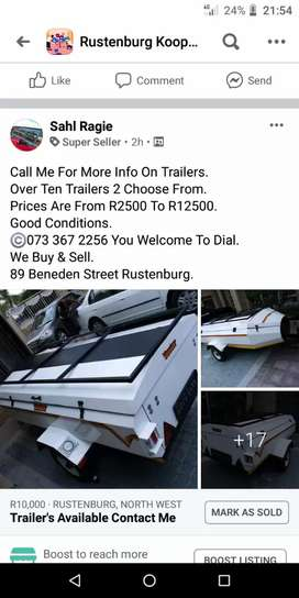 Trailers Available Contact Me
