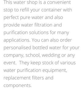 Water Purification Shop