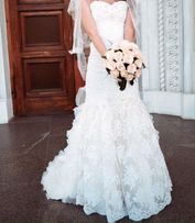 Продам свадебное платье рыбка со шлейфом