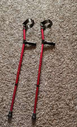 Practically new pair of crutches