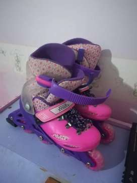 Rollerblades pink and purple