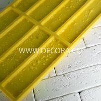 Полиуретановая форма для плитки кирпича из гипса «Кирпич Травертин»