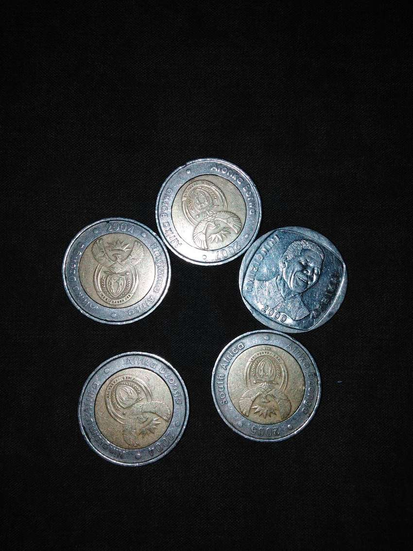 Year 2000 Mandela coin and 2004, 2007and 2005 0