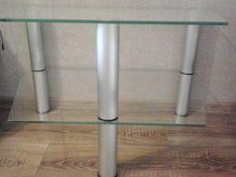 Скляний стіл -тумба під телевізор
