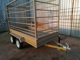 3m cattle trailer. sheep, pig, cow transport double axle 3m  long 1.5