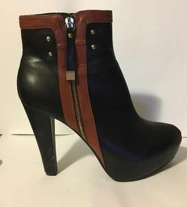 Black Leather Boots - Size 8