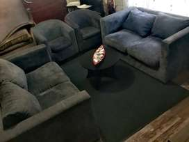 Grey lounge suite for sale @4600
