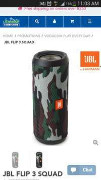 JBL Flip 3 squad speaker for sale  South Africa
