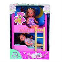 Кукольный набор Steffi and Evi Love с двухъярусной кроватью 5733847