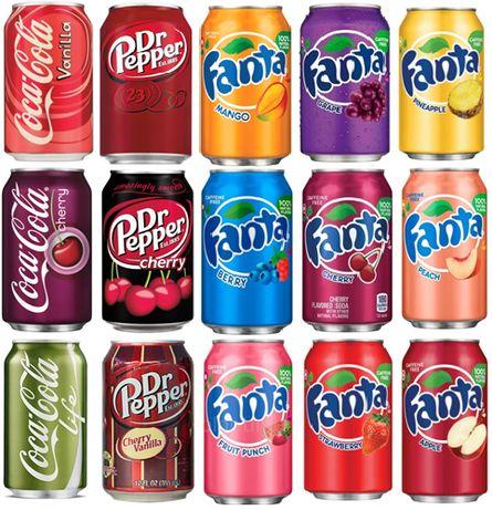 Газированные напитки из США.DR.PEPPER.Fanta.фанта.Mountain Dew.Опт