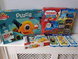 Zabawki kreatywne układanki zawody lekarz itp puzzle kolejka tomka
