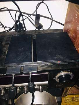 ps2 with fifa street 2 and 2 control