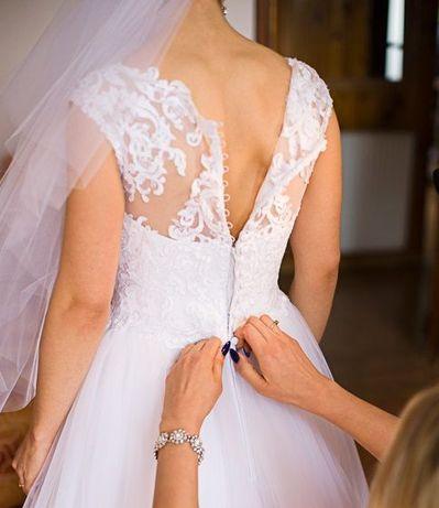 piękna biała suknia ślubna Elizabeth Passion Władysławowo - image 5
