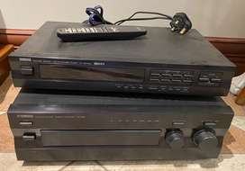 Yamaha Stereo, Amplifier and remote.