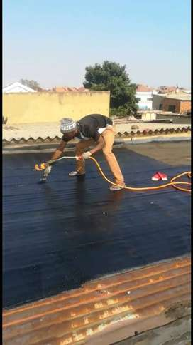 Membrane and torch on waterproofing