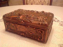 Шкатулка антикварная подарок мужчине для хранения оружия табакерка