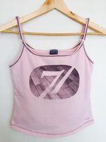 Top NIKE sportowy różowy siłownia adidas bluzka treningowa puma sport