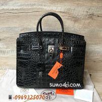 Женская кожаная сумка Hermes Birkin 35см Крокодил Рептилия