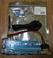Райзер Riser PCI-E 1 to 16x Molex+SATA USB 3.0 60см