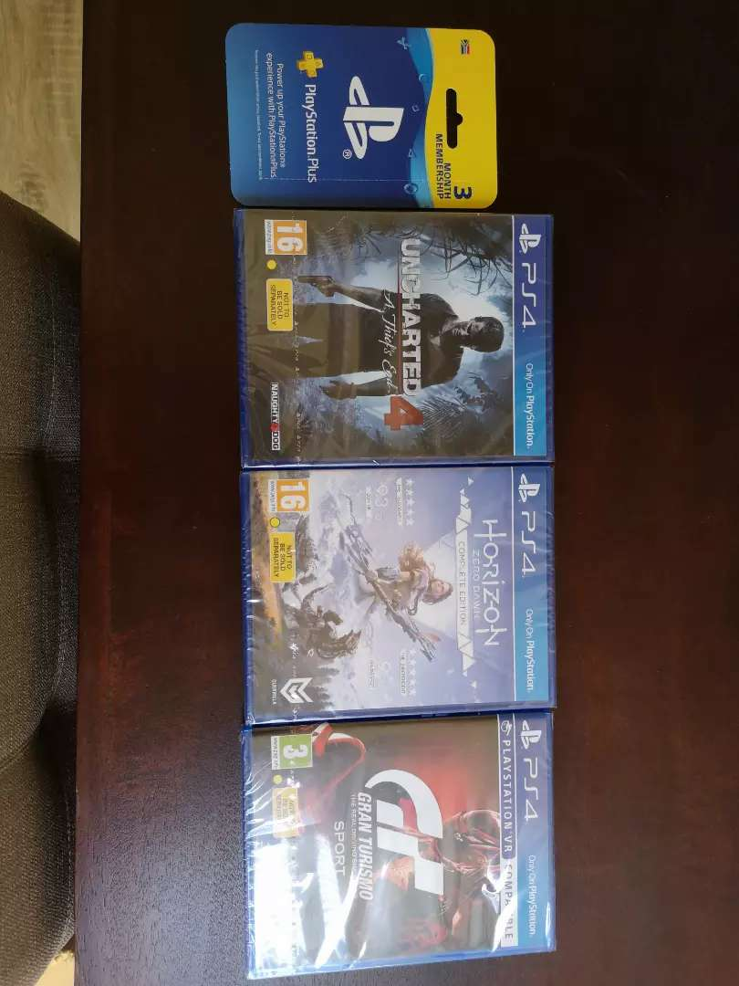 3 Brand New Sealed PS4 Games with Sealed 3 Month PS Plus Membership 0