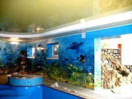 Роспись стен, художник оформитель, дизайн интерьера, мозаика, песчаник