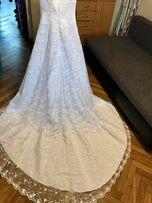 Suknia ślubna rozm. 36 GRATIS halka z kołem i welon