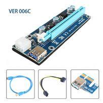 PCI-E 1X to 16X Express Riser Card PCI Extender 60cm USB3.0 ver.006c