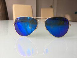 Używane okulary RAY-BAN Aviator Oryginalne + pudełko + etui