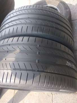 Two seconds hand tyres sizes 275/30/21 continental normal now availabl