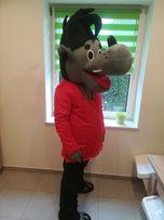 WILK chodząca żywa maskotka duży pluszak kostium reklamowy stój