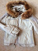 Зимняя теплая куртка,парка,натуральный мех