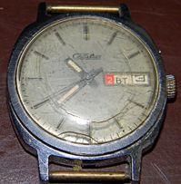 Часы наручные механика Слава 70-х годов времен СССР.На запчасти