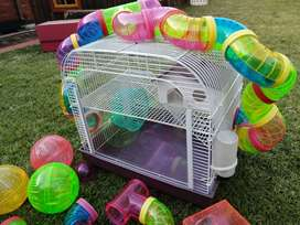Hamster Cage with many accessories