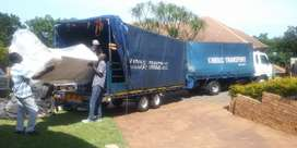 Nissan cm8 furniture truck with trailer