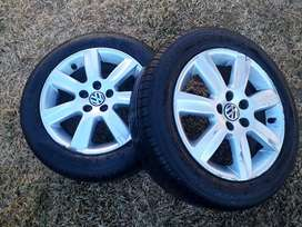 "3 x Polo Vivo 15"" Tyres and Rims"