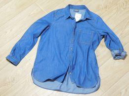 Новая джинсовая рубашка размер 48. Джинсовка