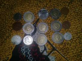 mandela coins  and old coins