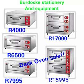 End of year sale, deck bakery ovens including trays