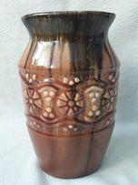 Stary WAZON KAMIONKOWY, ceramiczny, brązowy, vintage, PRL