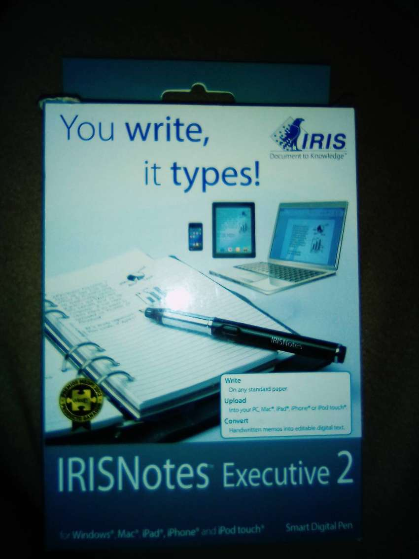 Irisnotes executive 2, brand new in the box