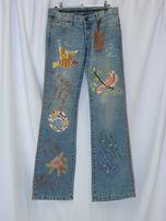 Switch USA Новые стильные джинсы брюки вышивка 100% оригинал р. 26 27