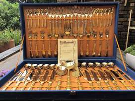 Italian gold plated cutlery