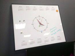 Планер маркерная доска с часами