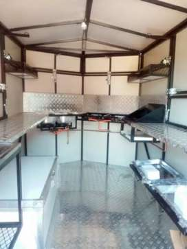 Mobile kitchen fully equipped for sale.