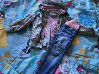 Стильный комплект(ветровка,джинсы) для юной модницы,HM,next,wojcik